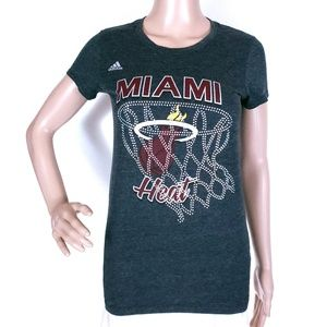 adidas Women Tee Top Miami Heat Size S